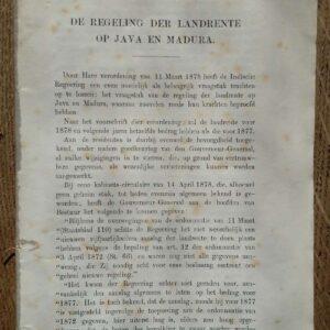 De regeling der landrente op Java en Madura