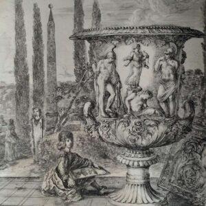 Romea In Hortis Medicaeis, Vas Marmoreum Eximium door Stefano Della Bella
